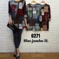 blouse wanita jumbo/baju atasan wanita murah/blouse wanita korea