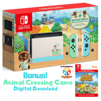 NINTENDO SWITCH ANIMAL CROSSING NEW HORIZONS CONSOLE V2 LONG BATTERY