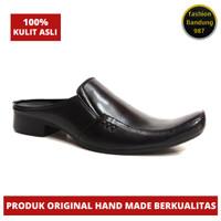 Sepatu sandal pria bahan kulit asli bustong lancip clw 021