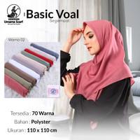 Hijab jilbab kerudung segi empat polos basic voal umama scarf