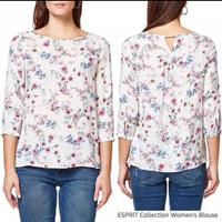 espr*t flower cotton blouse