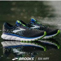 Brooks Glycerin 17 Wide Mens Running Shoes Black Blue Lime Original