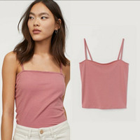 h*m cropped jersey camisole top