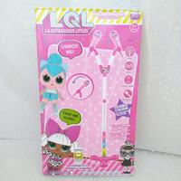 mainan edukasi anak mik mikrophone microphone karaoke LOL duet murah