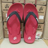 Sandal jepit karet Ardiles floridina sport merah/sandal pria original