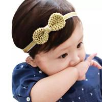 bandana gold model pita untuk bayi anak perempuan aksesoris bando