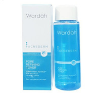 wardah acnederm pore refining toner 150 ml