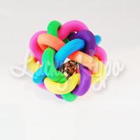Mainan Anjing Bola Karet Anyaman Bell/ Dog Rubber Ball Size L