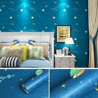 wallpaper sticker dinding motif planet lebar 45CM panjang 10meter