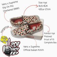 Vans x Supreme Slip On Pro Checkered (666) - 42