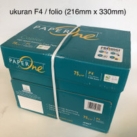 kertas HVS F4 75 gr Paper One [1 box = 5 rim] GOJEK/GRAB Bandung