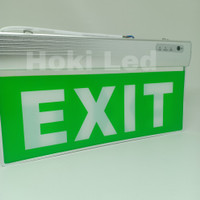 lampu exit led emergency lampu petunjuk darurat emergency lamp acrylic