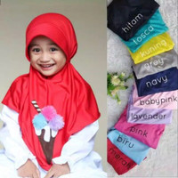 Jilbab Anak Eskrim - Hijab Jilbab Anak 4-7th - Kerudung Anak