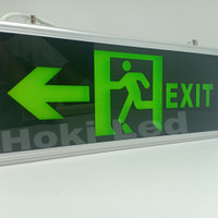 lampu exit led emergency lampu petunjuk darurat emergency exit lamp
