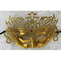 Lace party mask topeng pesta glitter gold