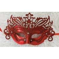 Lace party mask topeng pesta glitter red