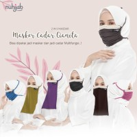 Masker cadar hijab multifungsi Qanita Original Nuhijab - Masker Jersey