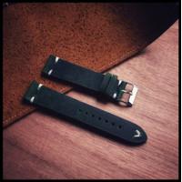 LSVT01 - leather strap 20mm - Tali jam tangan 22mm point stitch!!