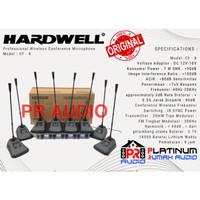 Mic Wireless Podium HARDWELL CF8 CF 8 CF-8 ORIGINAL 8 Mic Meja Podium!