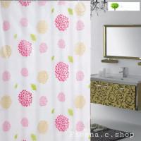 Sun Flower!Tirai kamar mandi bahan PEVA anti air lengkap dgn pengait
