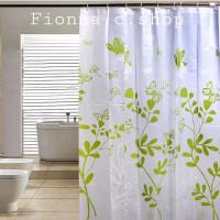Butterfly!Tirai kamar mandi anti air bahan PEVA lengkap dengan pengait