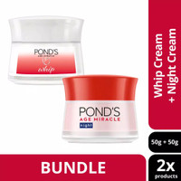 Pond's Age Miracle Whip Cream 50g + Night 50g Ponds Anti Aging Agieng