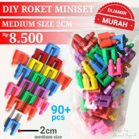 GROSIR LEGO MINISET ROKET 2 CM (MEDIUM SIZE) - DIY MINI SET LEGO JADUL