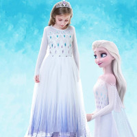 Baju Elsa Frozen 2 Putih Kostum Anak Baru Costume Putih CG74