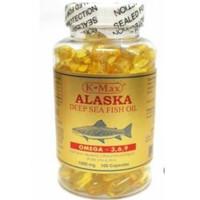 k max alaska deep sea fish oil omega 3 isi 100 tutup putih