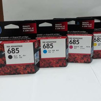 Tinta Catridge HP 685 Black + 685 Color Original for:3523,4615,4625