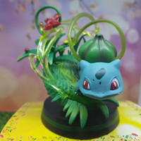 Action Figure Pokemon Statue Bulbasaur - Mainan Anak Koleksi Pokemon