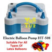 Pompa Balon Elektrik Otomatis Putih Biru / Balloon Pump Electric