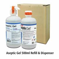 Paket Aseptic Gel 500 ml Onemed (Dispenser & Refill)