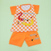Baju Catur Anak Bayi Perempuan 0-18 bulan motif cacing worm zone