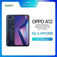 HP oppo A12 ram 3/32gb garansi resmi oppo 1 tahun