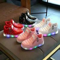 sepatu LED anak swarovsky circon impor