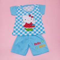 Baju Stelan Catur Anak Bayi Perempuan 0-18 bulan motif hello kitty