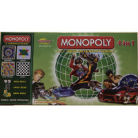 Monopoli 4 in 1 Monopoly All International Ular Tangga Halma Catur