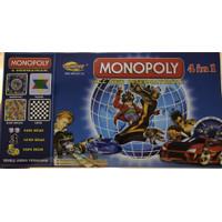 Monopoli Internasional 4 in 1 Monopoly Halma Catur Ular Tangga Mainan