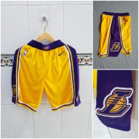 Celana Basket Swingman NBA Los Angeles Lakers - Ungu, XXL