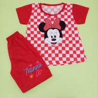 Baju Catur anak bayi perempuan 0-18 bulan motif minnie