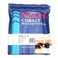 mata bor nachi hss-co twist drill 8.0mm shank drill bits hss cobalt