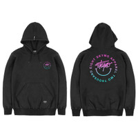 SKYMO APPAREL HOODIE HAPPY TRIPPY BLACK
