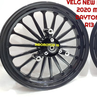 Velg NEW NMAX Rossy Model Daytona BLACK 350-400 R13
