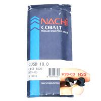 mata bor nachi hss-co twist drill 10.0mm shank drill bits hss cobalt