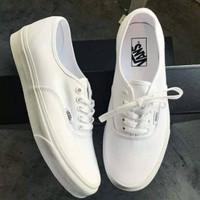 sepatu Casual Wanita Vans Authenthic Full White Size 36-40