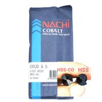 mata bor nachi hss-co twist drill 8.5mm shank drill bits hss cobalt