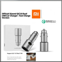 XIOMI MI CAR CHARGER MOBIL DUAL USB output original fast charging 3.0