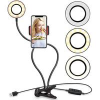 Ring Light Lazypod 3 Mode + Phone holder 2in1 Ringlight Lazy Pod Jepit