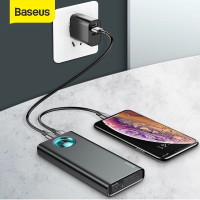BASEUS 20000mAh POWER BANK 18W PD3.0 + QC3.0 FAST CHARGER QUICK CHARGE